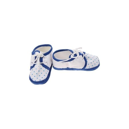Junior joy  Babyschoenen Newborn Junior Wit/blauw Met Stippen