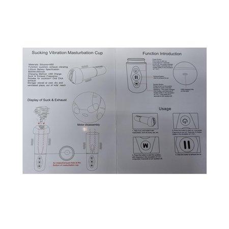 Banzaa  Masturbator Gina's Kutje  ‒ Compressor 5 Zuigende Standen ‒ Vibrerende 10 mode