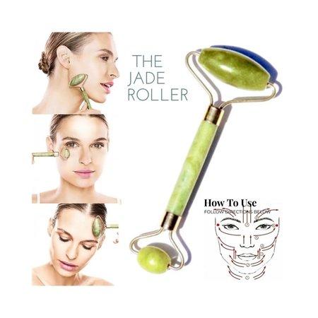 Banzaa Jade Roller Gezichtsmassage Roller - Groen - 100% Natuurlijke Jade steen