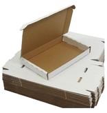 Merkloos Brievenbusdoos brievenbusdozen A5 50 stuks met bovenklep wit 255 x 160 x 28 mm