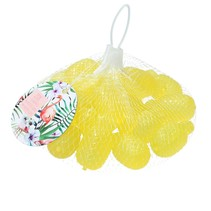 20 Plastic ijsblokjes in Ananas vorm - Geel