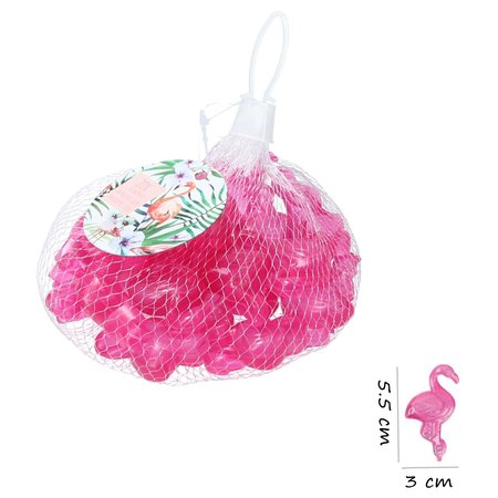 Banzaa 10 Stuks Mini Herbruikbare Flamingo IJsblokjes / IJsklontjes / Paars