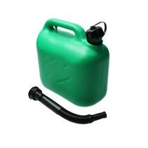 Jerrycan voor brandstof 5 liter groen - incl. schenktuit - voor o.a. benzine en diesel