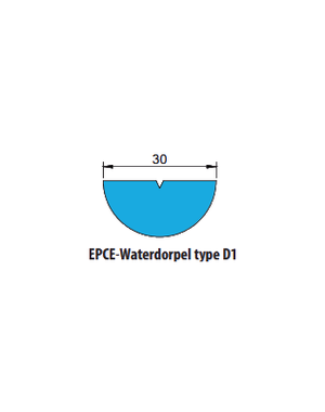 EPCE Waterdorpel D1, lengte 1 meter