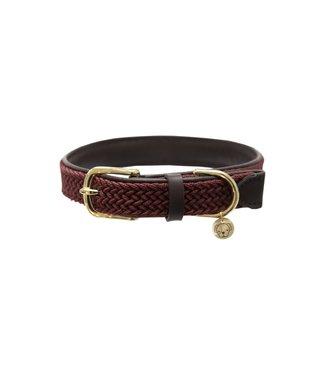 Kentucky Dogwear Halsband Gevlochten Nylon - Bordeaux