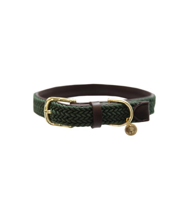 Kentucky Dogwear Halsband Gevlochten Nylon - Olijf