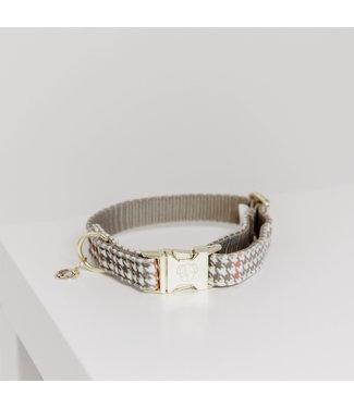 Kentucky Dogwear Halsband Pied de Poule - Beige