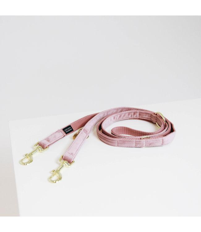 Kentucky Dogwear Leiband Velvet - Oud Roze