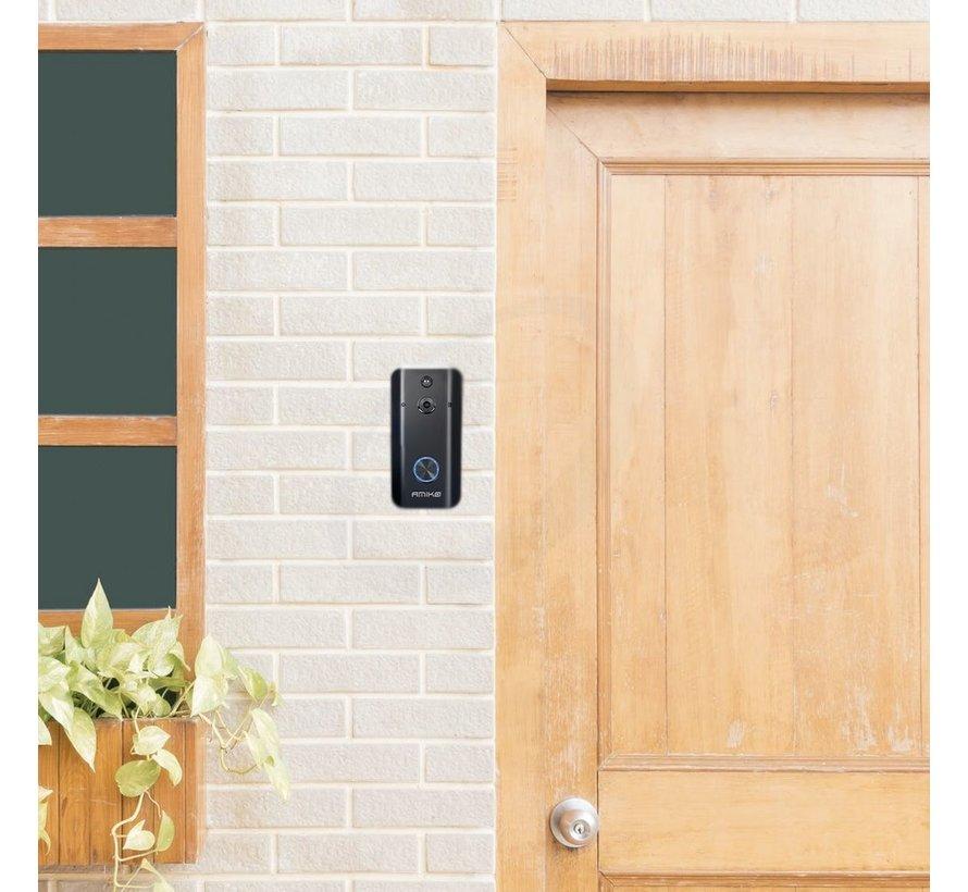 Amiko Smart Camera Wifi deurbel - Full HD 1080P - inclusief deurbelgong en 16GB MicroSD