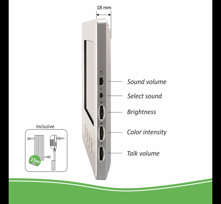 Elro bedraad Color Night Vision deur intercom systeem met applicatie