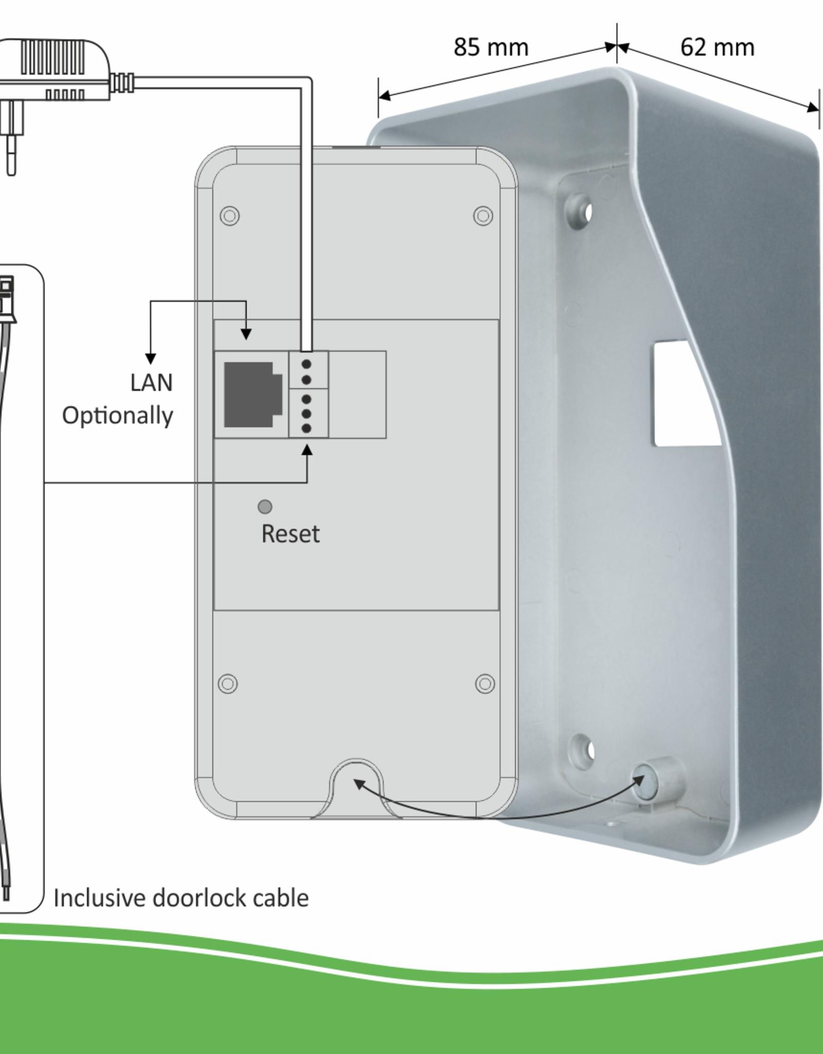 Elro Elro Video IP Deur Intercom Systeem met Applicatie en Draadloze Deurbel (DVC040IP)