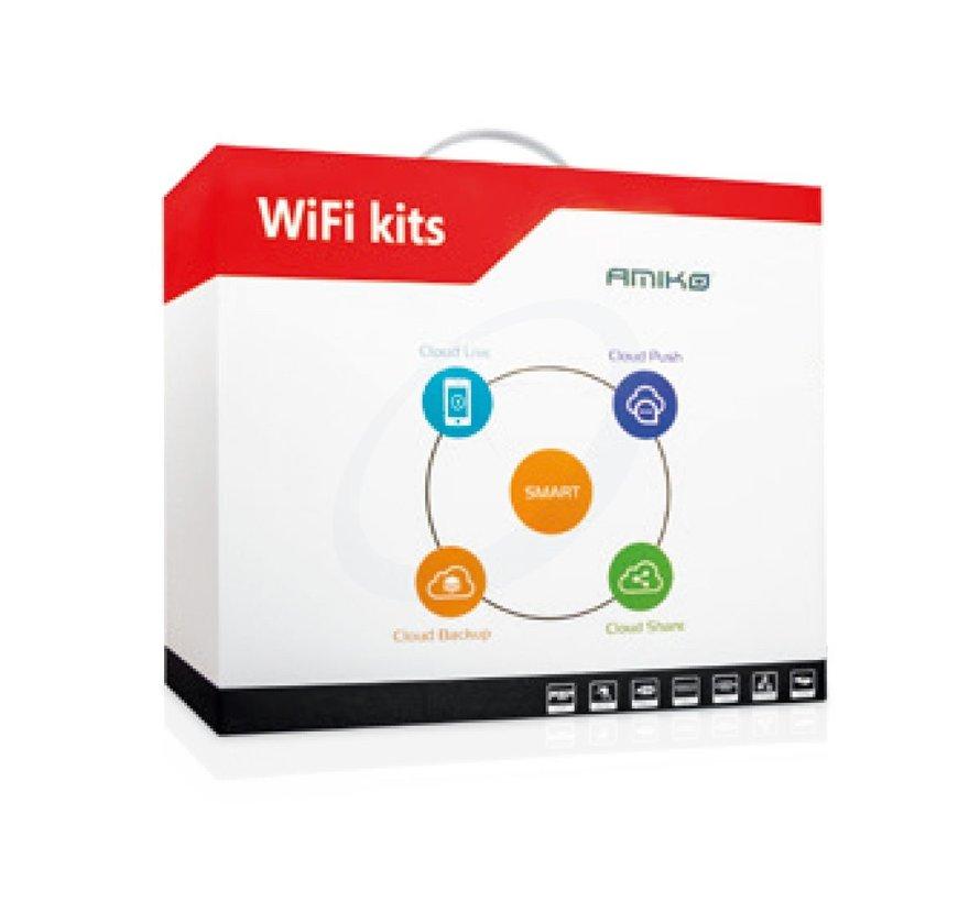 Amiko Home CS200W Smart WiFi KIT - 2MP 4CH - bewegings- gas- en rook detectie