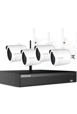 Amiko Amiko WiFi KIT - 4CAM 4CH 5MP 200 - 4 x WiFi Camera's - 1 x WiFi NVR - 4 x Power Supply