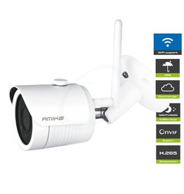 Amiko Amiko B25M200 WiFi – Full HD 1080P - 2MP Bullet Camera - Weatherproof