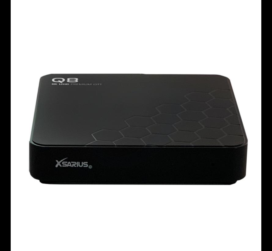 Xsarius Q8 - 4K UHD - Premium OTT Media Streamer - Android 8.0 Oreo