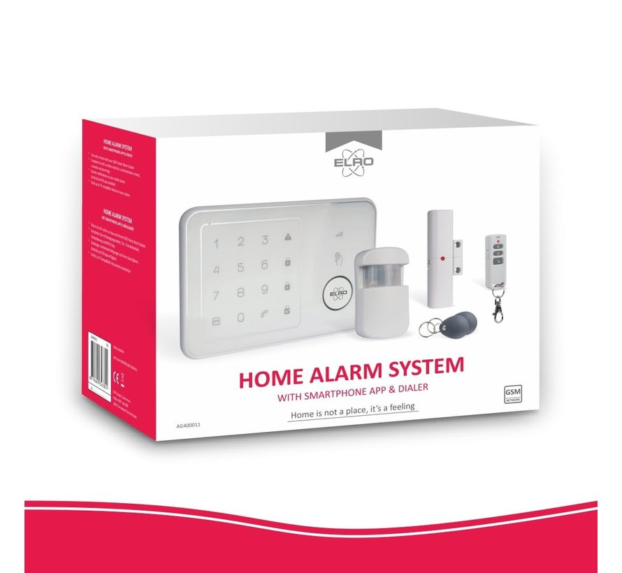 Compleet ELRO Thuis Alarmsysteem – Met GSM Module en App (AG4000)