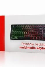"""Gembird Multimedia toetsenbord """"Rainbow"""" met BackLight"""