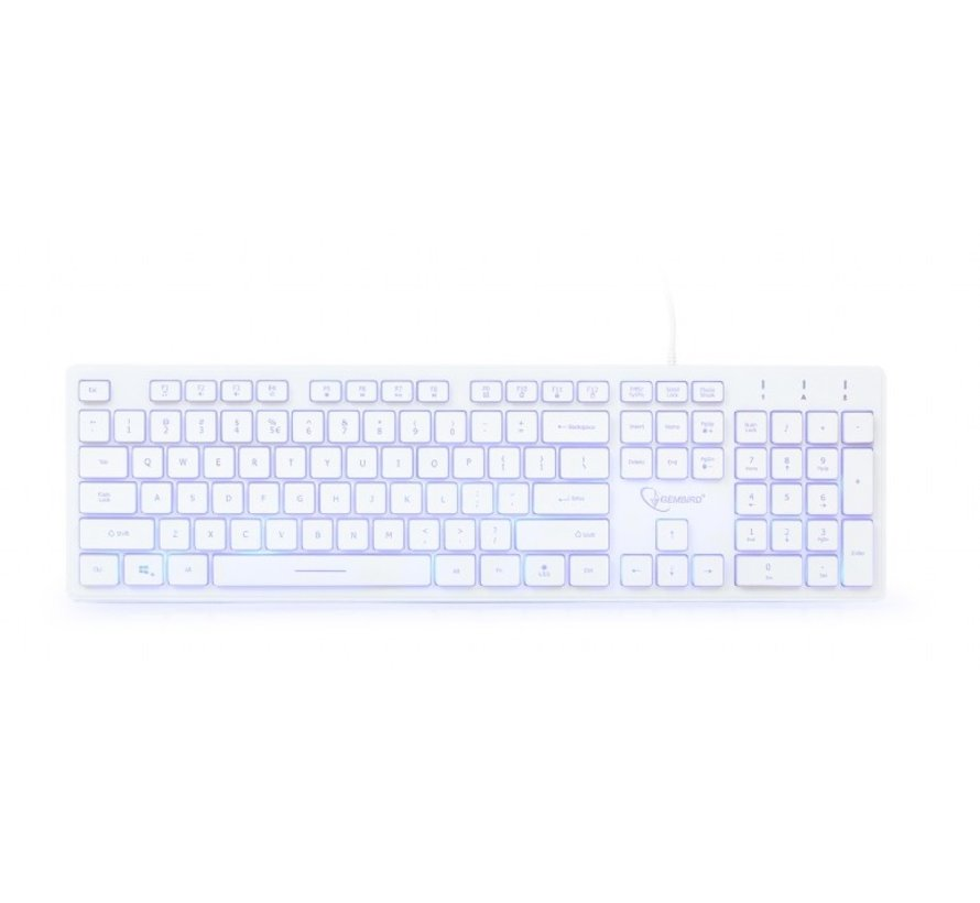 Multimedia toetsenbord (wit) met BackLight