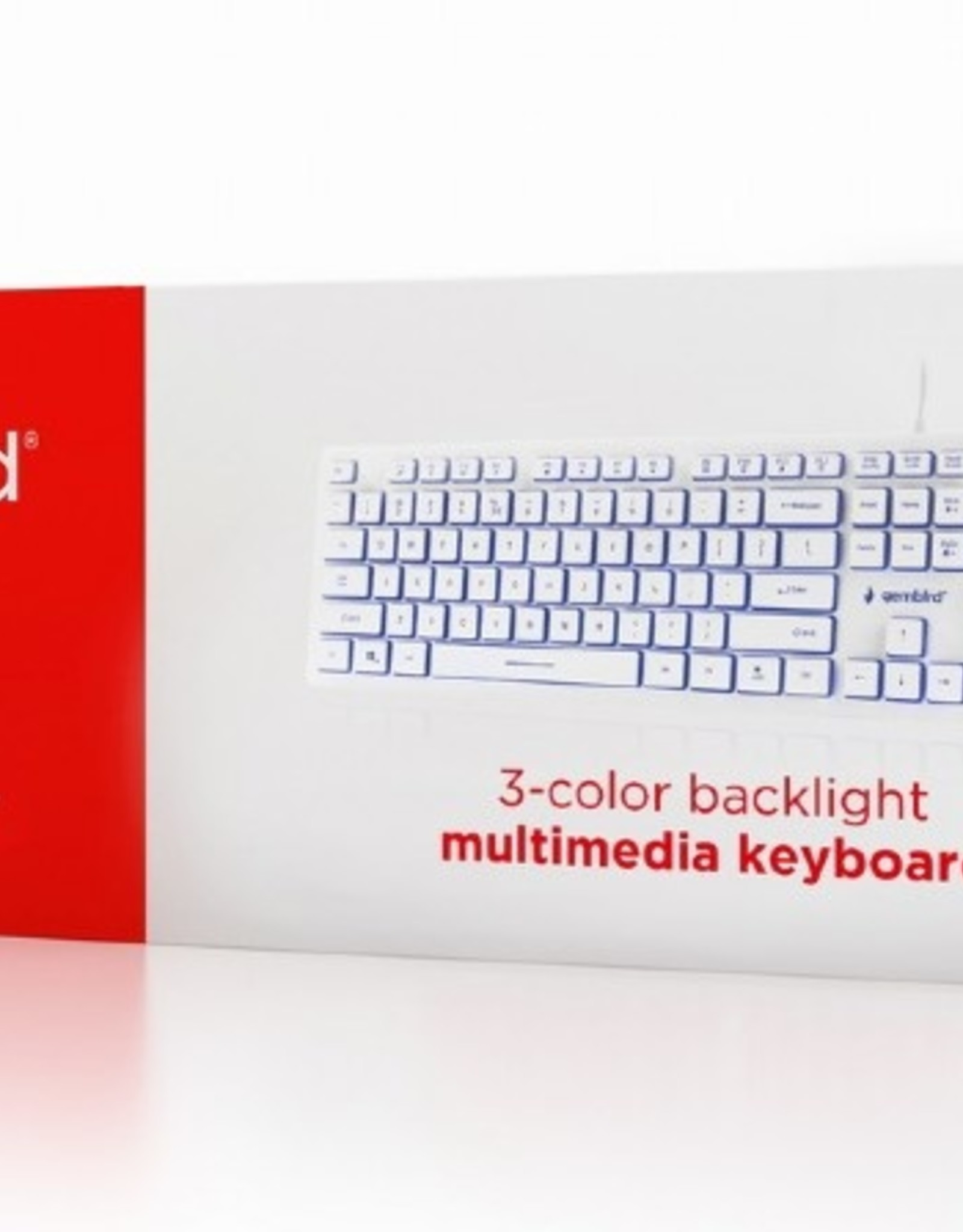 Gembird Multimedia toetsenbord (wit) met BackLight