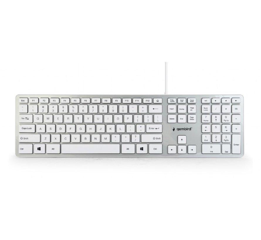 Slimline creme toetsenbord USB
