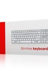 Gembird Slimline creme toetsenbord USB