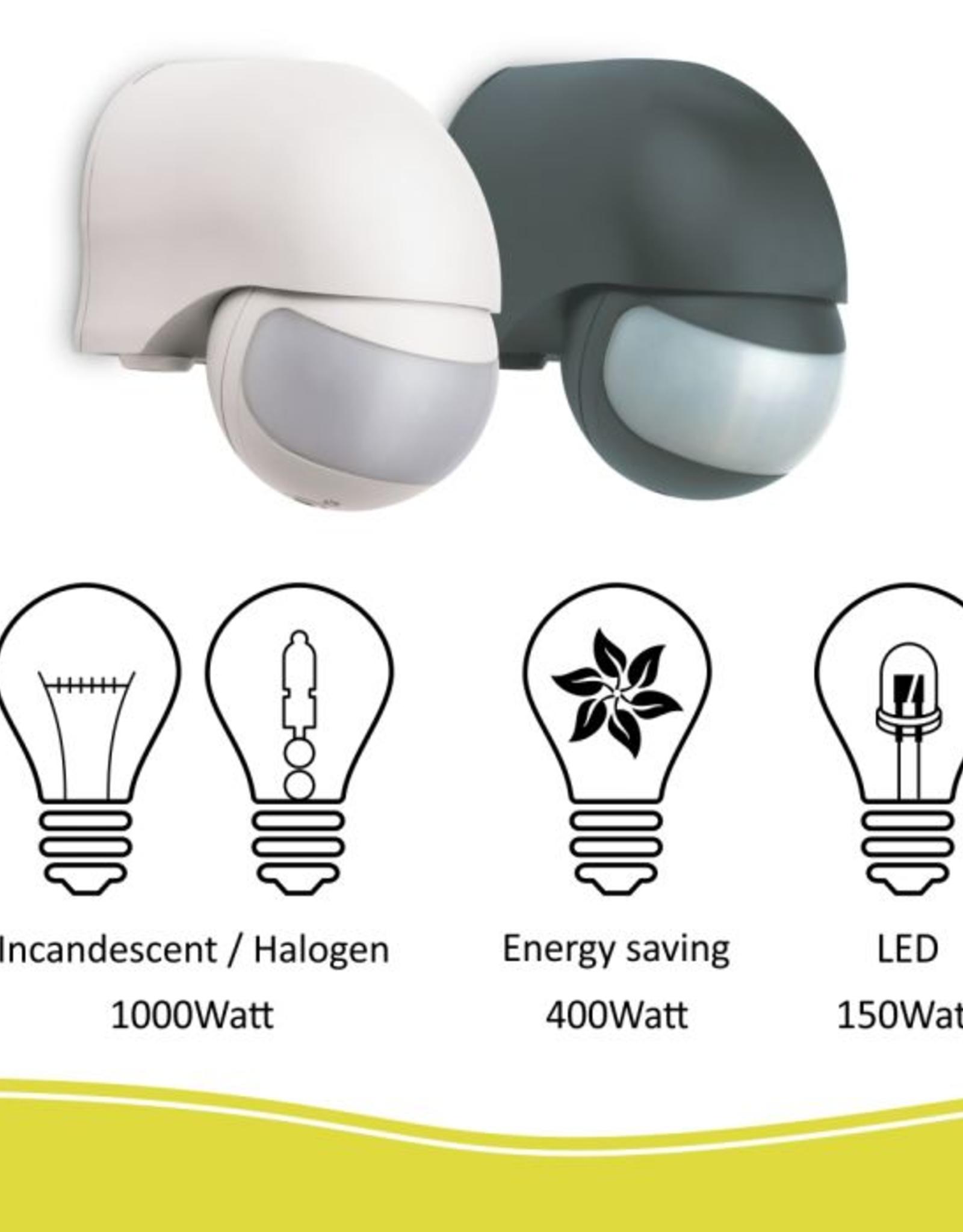 Elro Bewegingsmelder – geschikt voor buiten- 200° - Wit