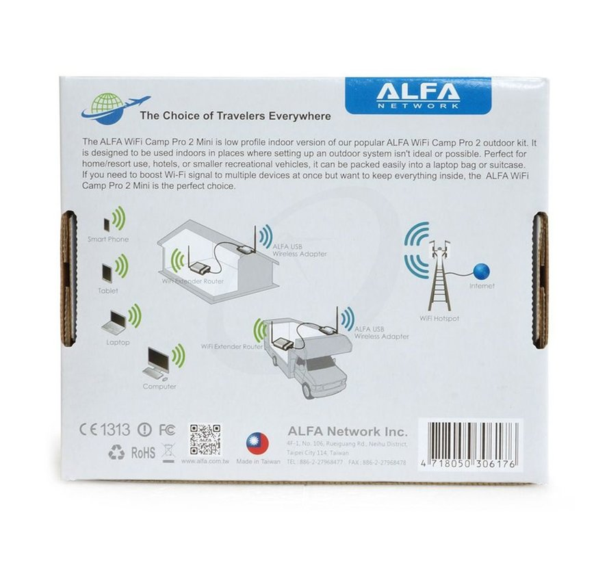 Network WiFi Camp Pro 2 Mini - indoor set - AWUS036NH + R36A Router