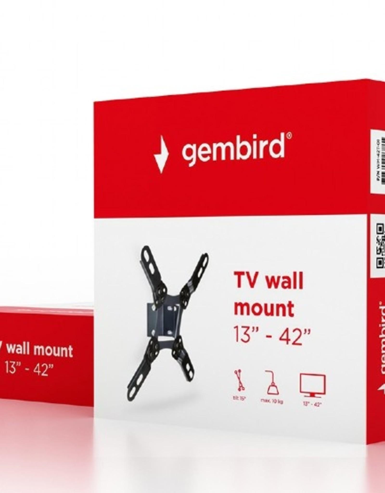 """Gembird TV muurbeugel 13""""-42"""" max. 10kg"""