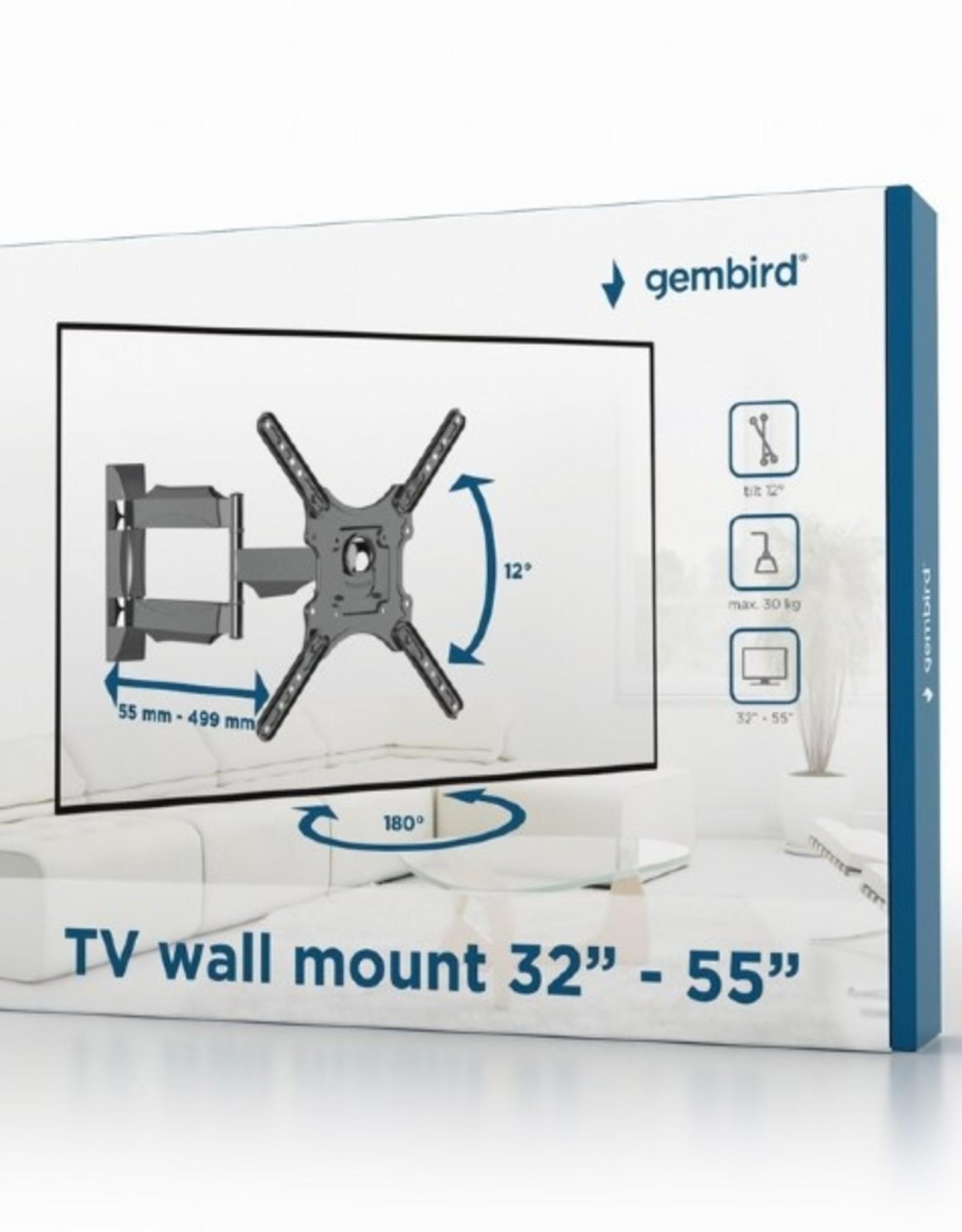 """Gembird TV muurbeugel 32""""-55""""max. 30kg"""