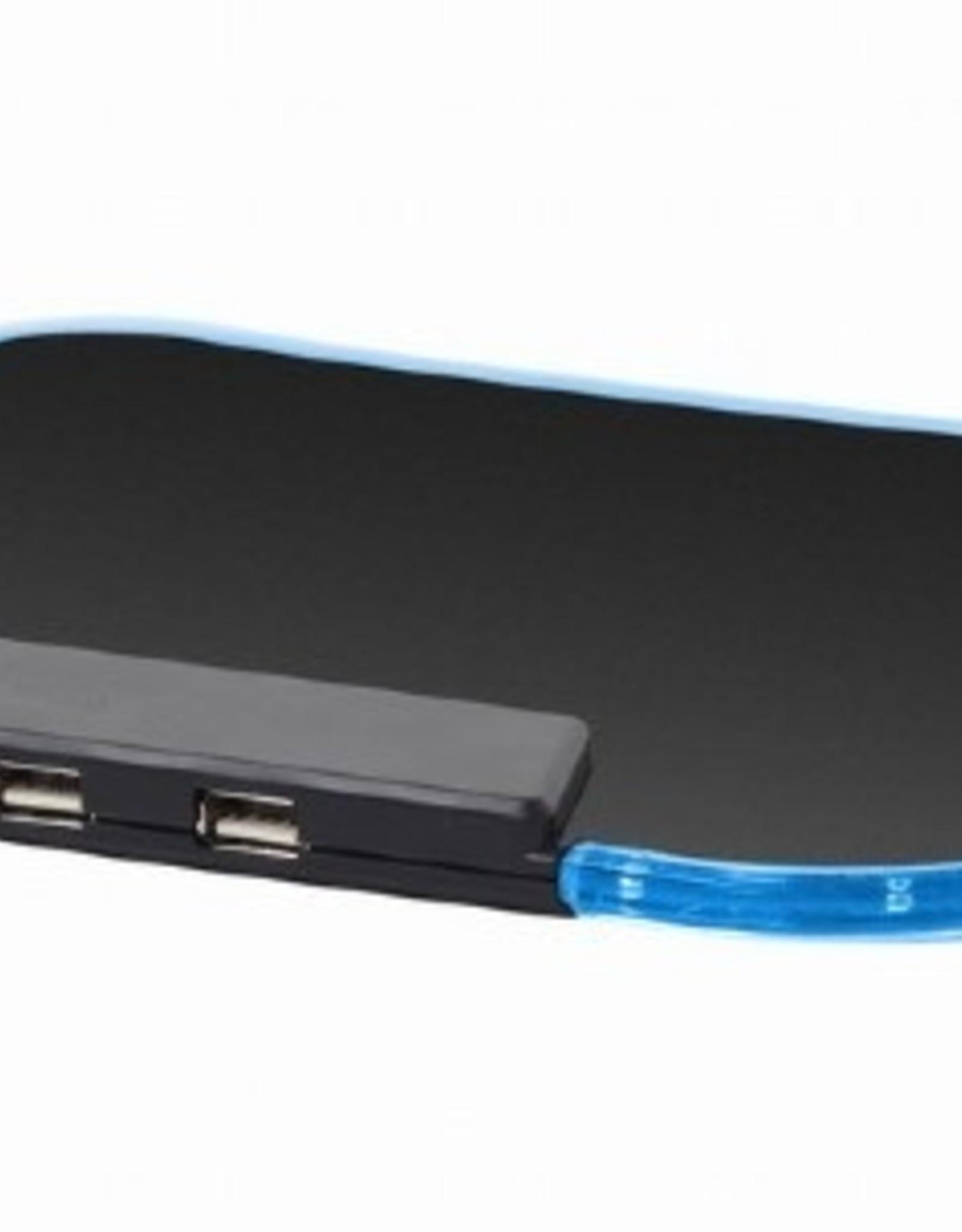Gembird LED muismat met 4-poorts USB hub