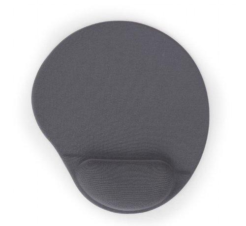 Gembird Muismat met gel polssteun, grijs