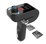 Gembird 3-in-1 Bluetooth carkit met FM transmitter en USB lader, zwart