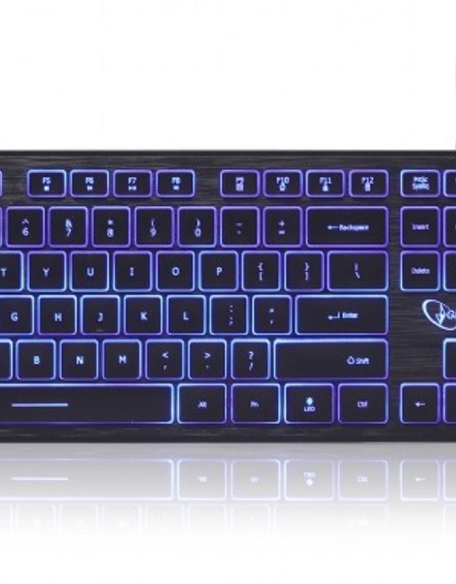 Gembird Multimedia toetsenbord (zwart) met BackLight - 3 verschillenden kleuren
