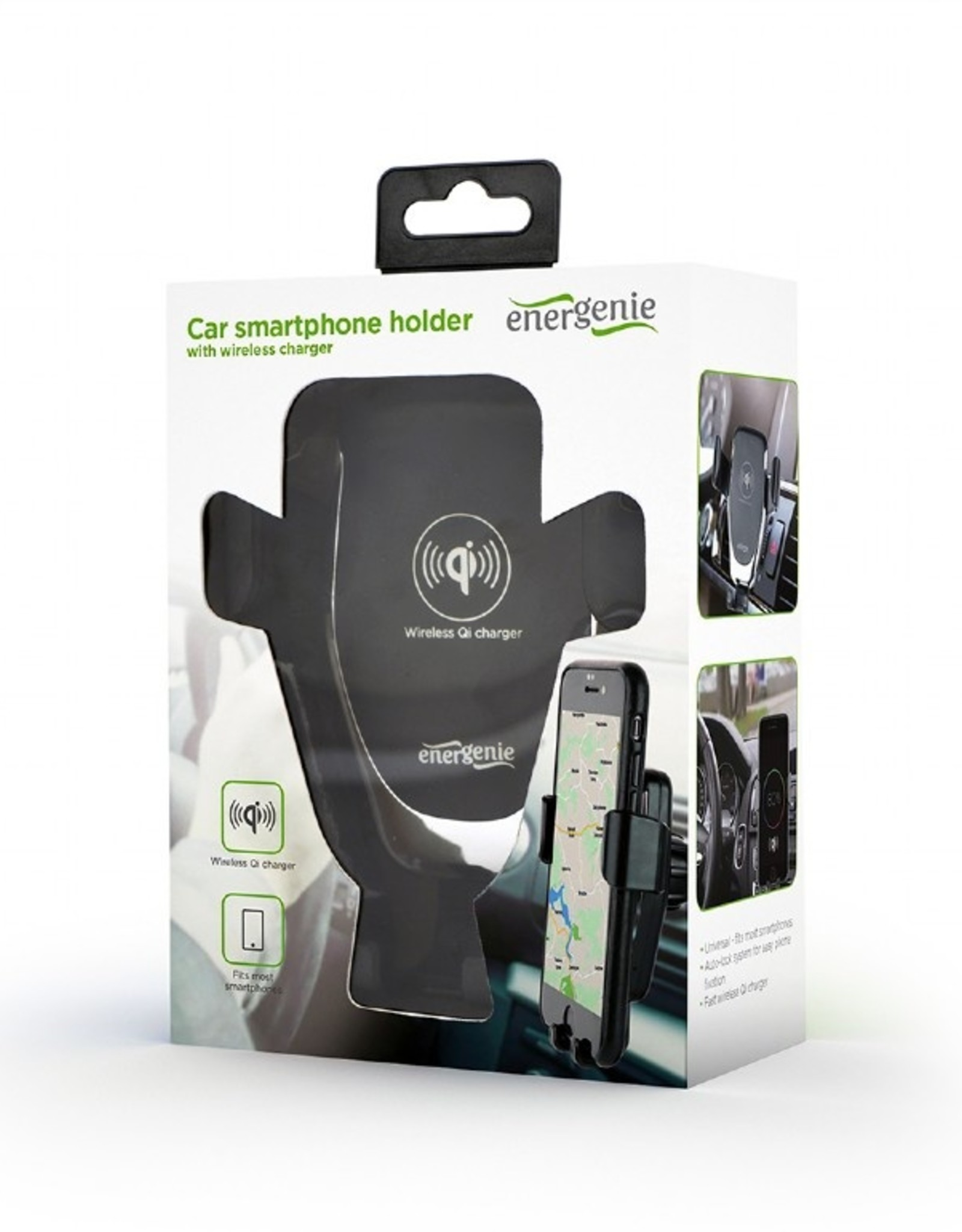Energenie Smartphone autohouder met draadloze snellader, 10 W