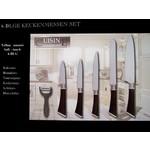 Cuisine Performance Teflon keukenmessen (set van 6)