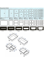 Q-Gastro Gastronorm Bak RVS 1/3 GN | 40mm | 325x176mm