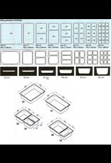 Q-Gastro Gastronorm Bak RVS 1/4 GN | 100mm | 265x162mm