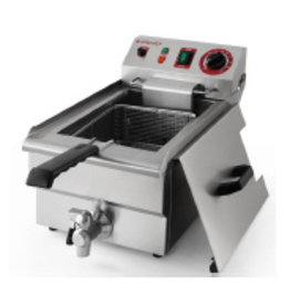 Q-Gastro 1 pan's Elektrische Friteuse 1x 10L (Nieuw) 400V