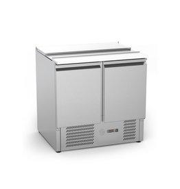 Q-Gastro RVS Solide 2 deurs Saladette (nieuw)