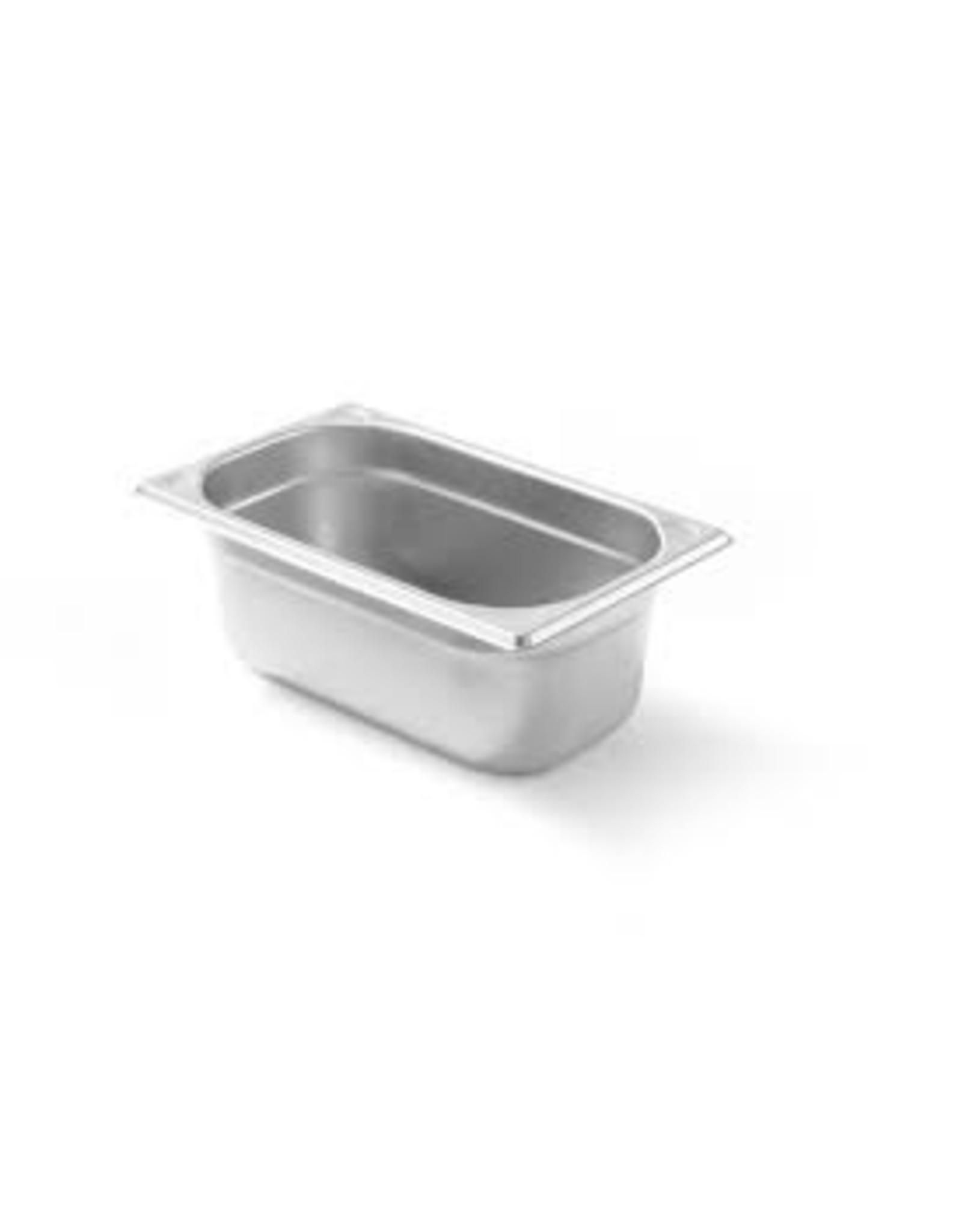Q-Gastro Gastronormbehälter Edelstahl 1/4 GN | 100mm | 265 x 162 mm