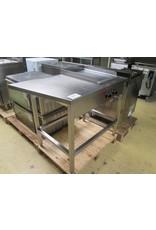 RVS RVS werktafel met ingebouwde spiegelbakplaat 380V