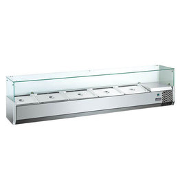 Q-Gastro Edelstahl-Design Kühlvitrine Saladiere 1800 (neu im Karton) 230V
