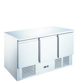 Q-Gastro Q-Gastro RVS Kühlwerkbank 3 Türen (Neu !!)