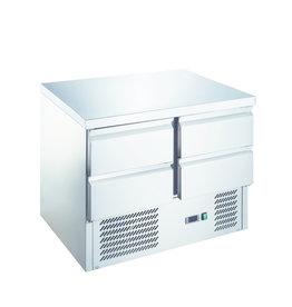 Q-Gastro Q-Gastro RVS Kühlwerkbank 4 Schubladen (NEU !!)