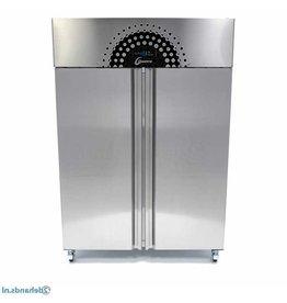 Q-Gastro Solide RVS dubbel deurs koelkast op wielen (Nieuw)