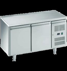 Q-Gastro Solide Edelstahl Cool Workbench 2  Türen (Neu !!)