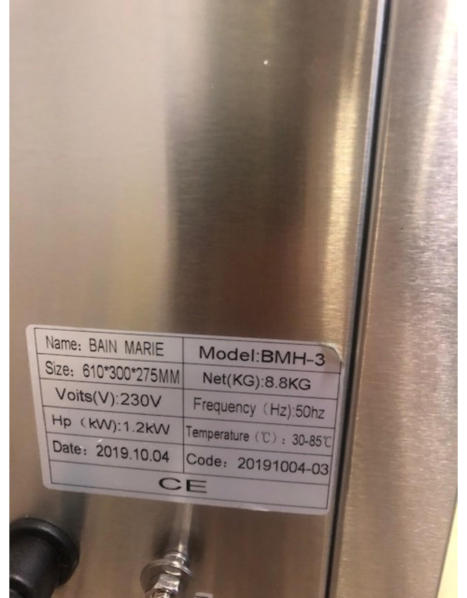 Bain-Marie-Hotpot 3x2,75 L (Nieuw!!)