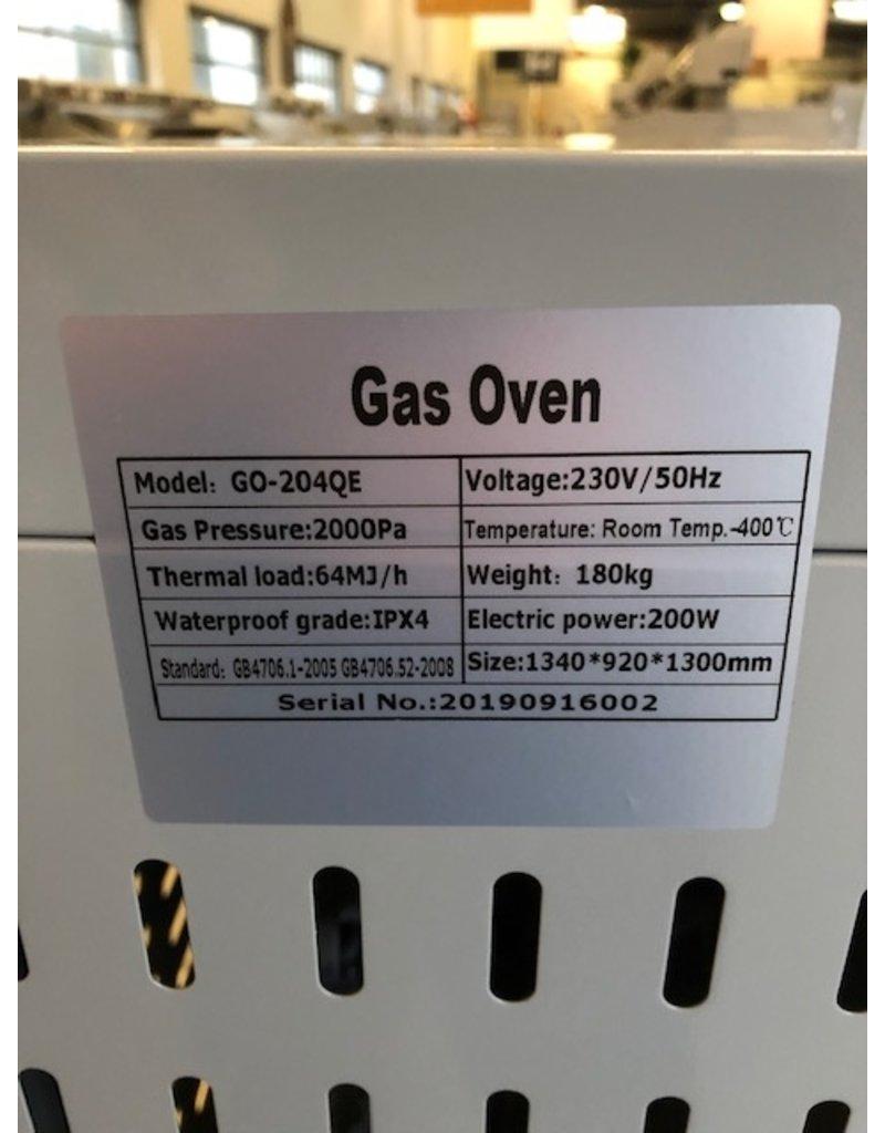 Q-Gastro Gas Pizza Oven met 2x4 kamers op wielen Aardgas (NIEUW!!)