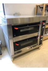 Q-Gastro Q-Gastro Bäckerei Pizza / Brotofen auf Rädern (neu) - 135 cm Backofen mit Erdgas