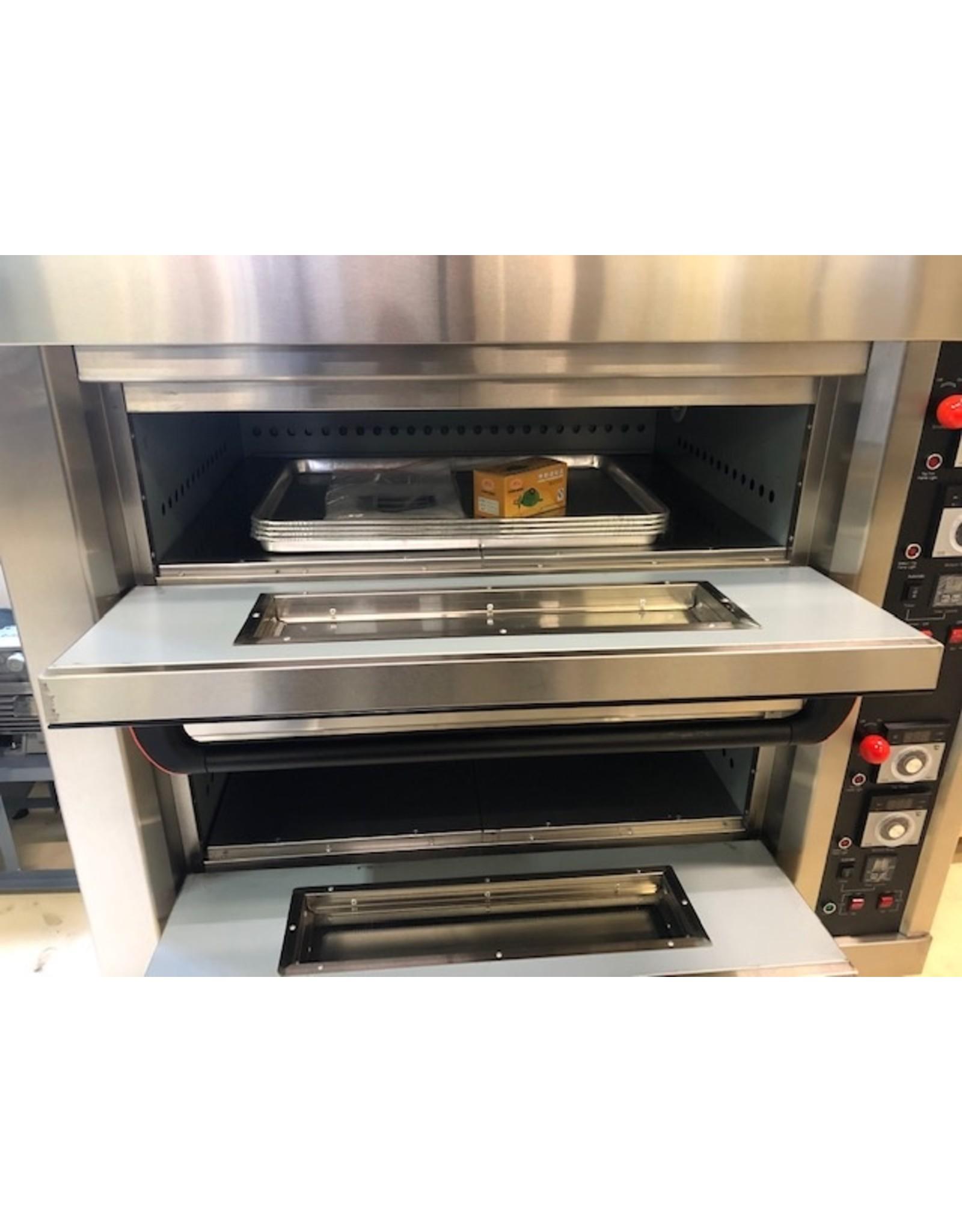 Q-Gastro Q-Gastro bakkerij Pizza/Brood Oven op wielen (nieuw) - 135 cm oven op aardgas